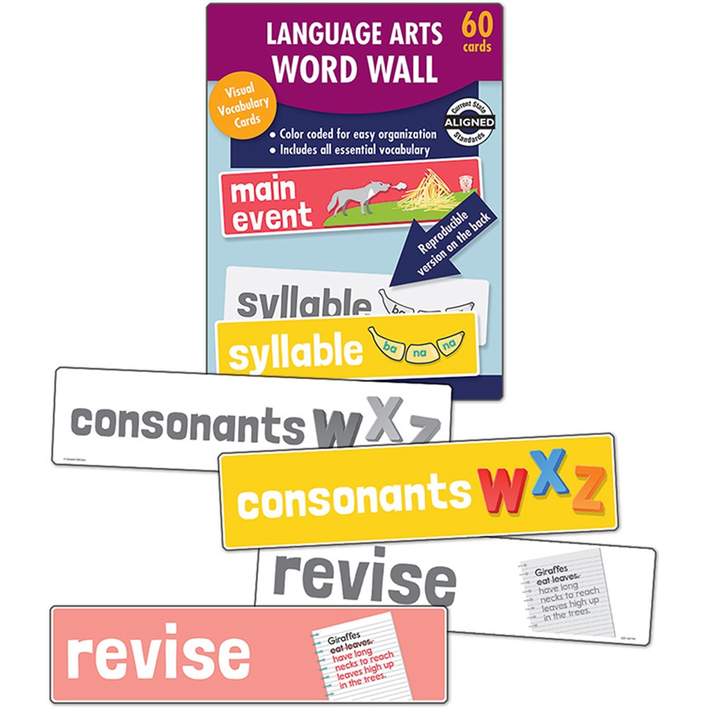 CD-145114 - Language Arts Word Wall Gr K in Sight Words
