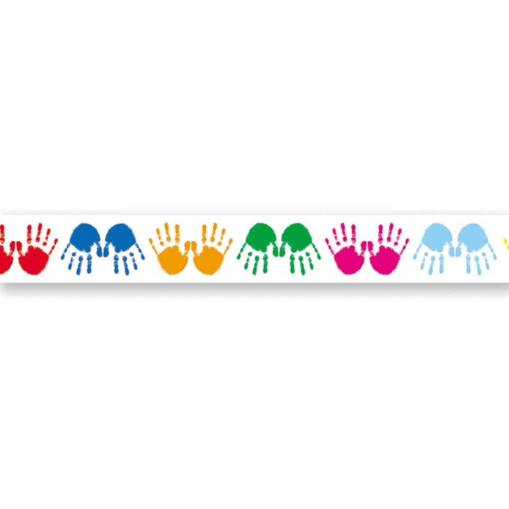 CD-1456 - Border Colorful Handprints Straight in Border/trimmer