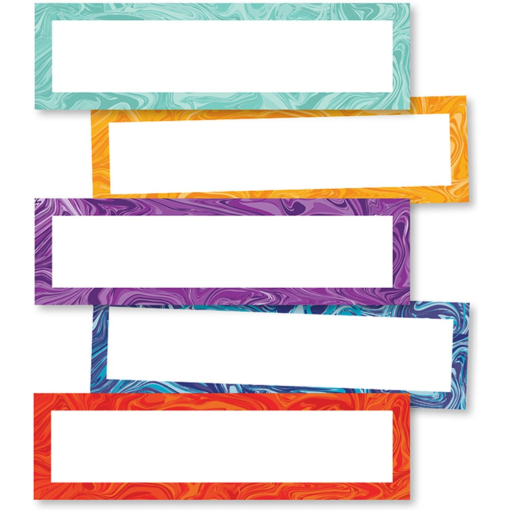 CD-149003 - Galaxy Marble Swirl Magnetic Labels in Whiteboard Accessories