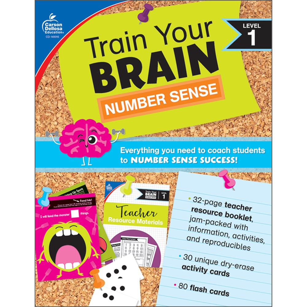 Train Your Brain: Number Sense Level 1 - CD-149016 | Carson Dellosa Education | Numeration