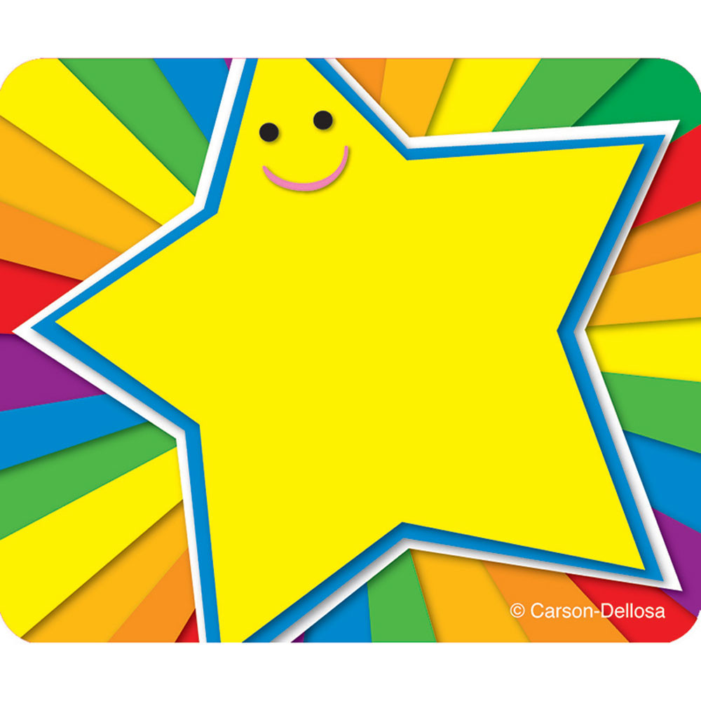 CD-150006 - Rainbow Star Name Tags in Name Tags
