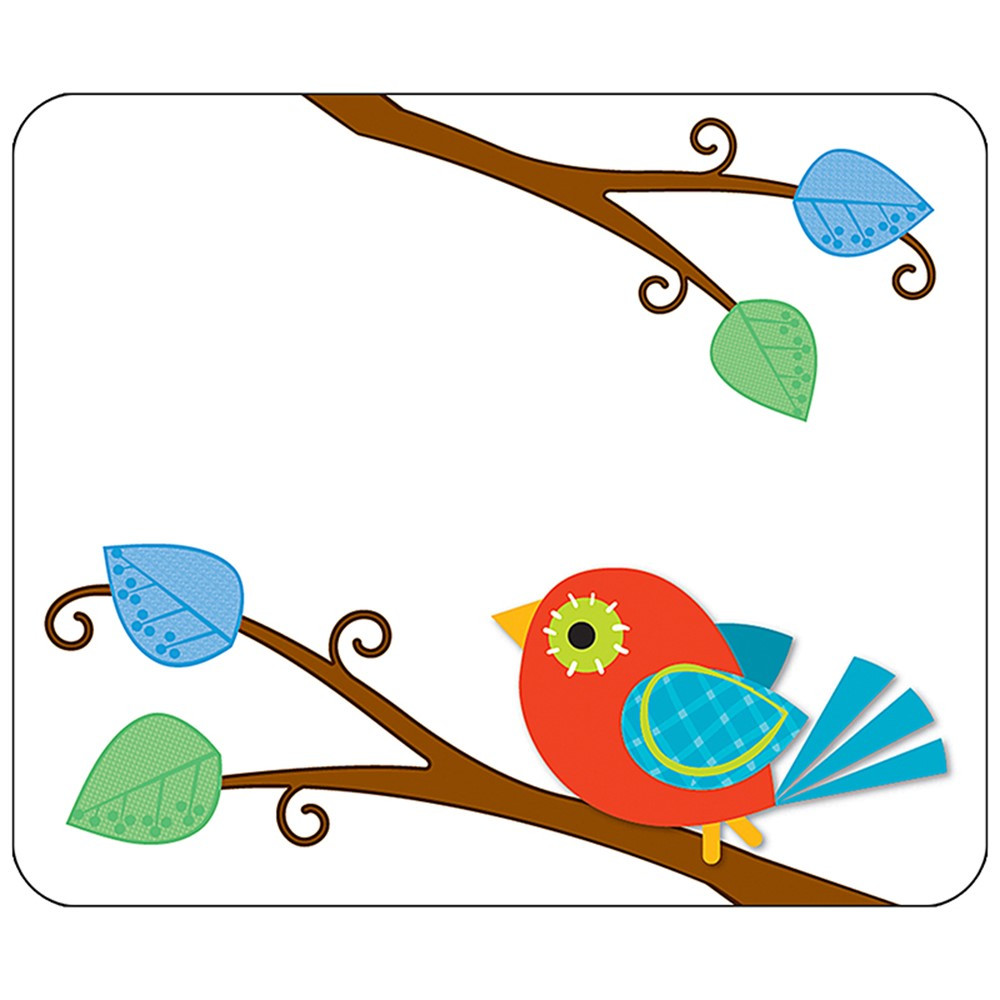 CD-150022 - Boho Birds Name Tags in Name Tags