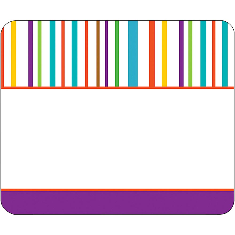 CD-150028 - Calypso Name Tags Colorful Stripes in Name Tags
