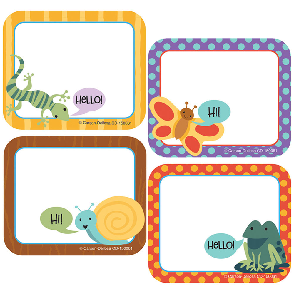 CD-150061 - Nature Explorers Name Tags in Name Tags