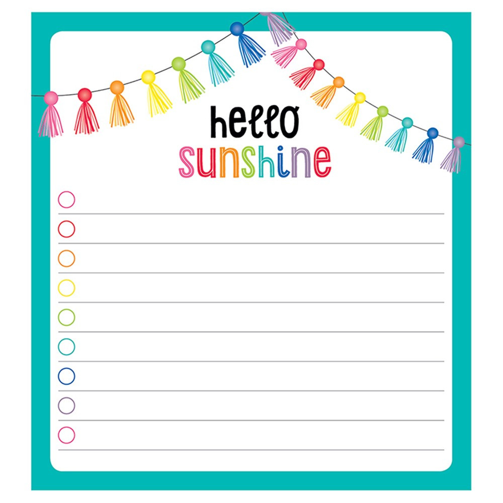 CD-151100 - Hello Sunshine Notepad in Note Pads