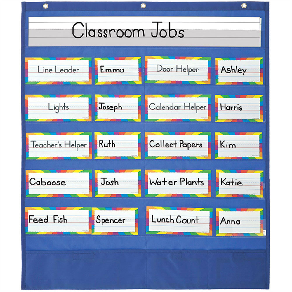 Classroom helpers pocket chart cd 158037 carson dellosa