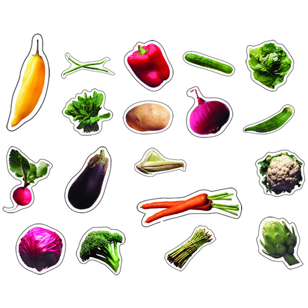 CD-168009 - Vegetables Photographic in Stickers