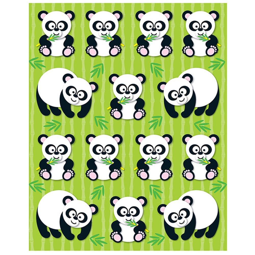CD-168021 - Pandas Shape Stickers 84Pk in Stickers