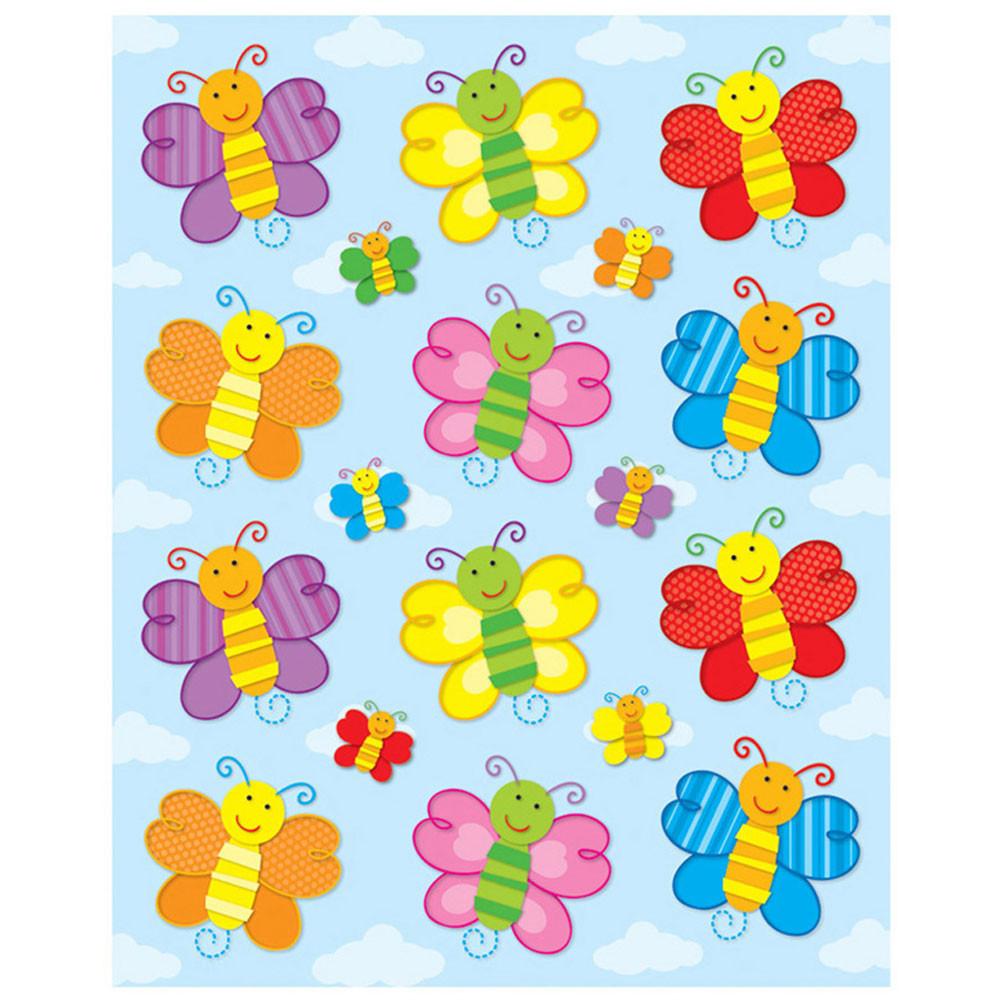 CD-168032 - Butterflies Shape Stickers 72Pk in Stickers