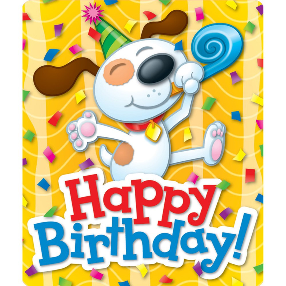 Happy birthday stickers 24ct cd 168053 carson dellosa