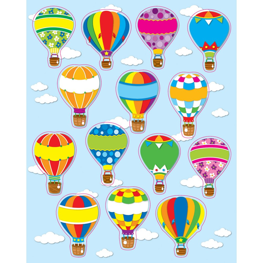 CD-168064 - Hot Air Balloons Stickers in Stickers