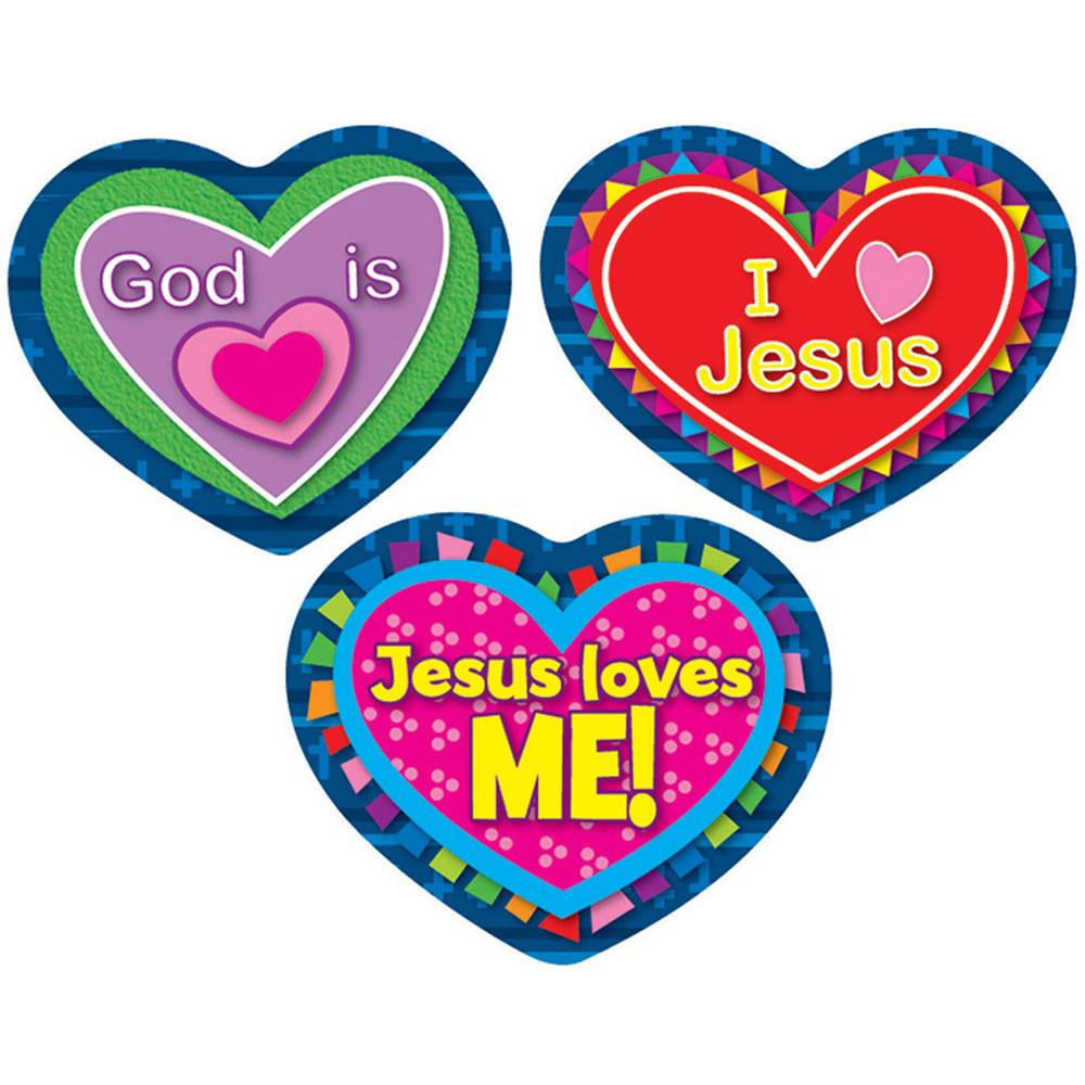 CD-168080 - Jesus Loves Me Stickers in Inspirational