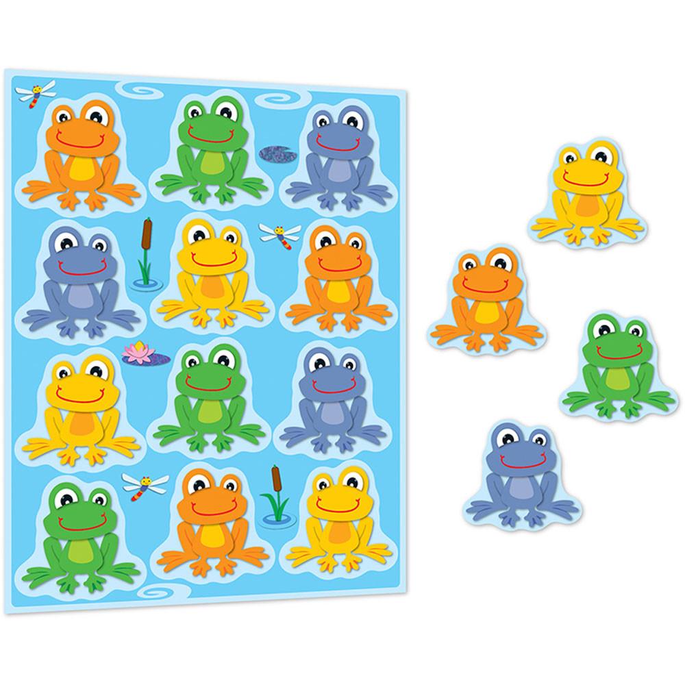 CD-168122 - Funky Frogs Shape Stickers in Stickers