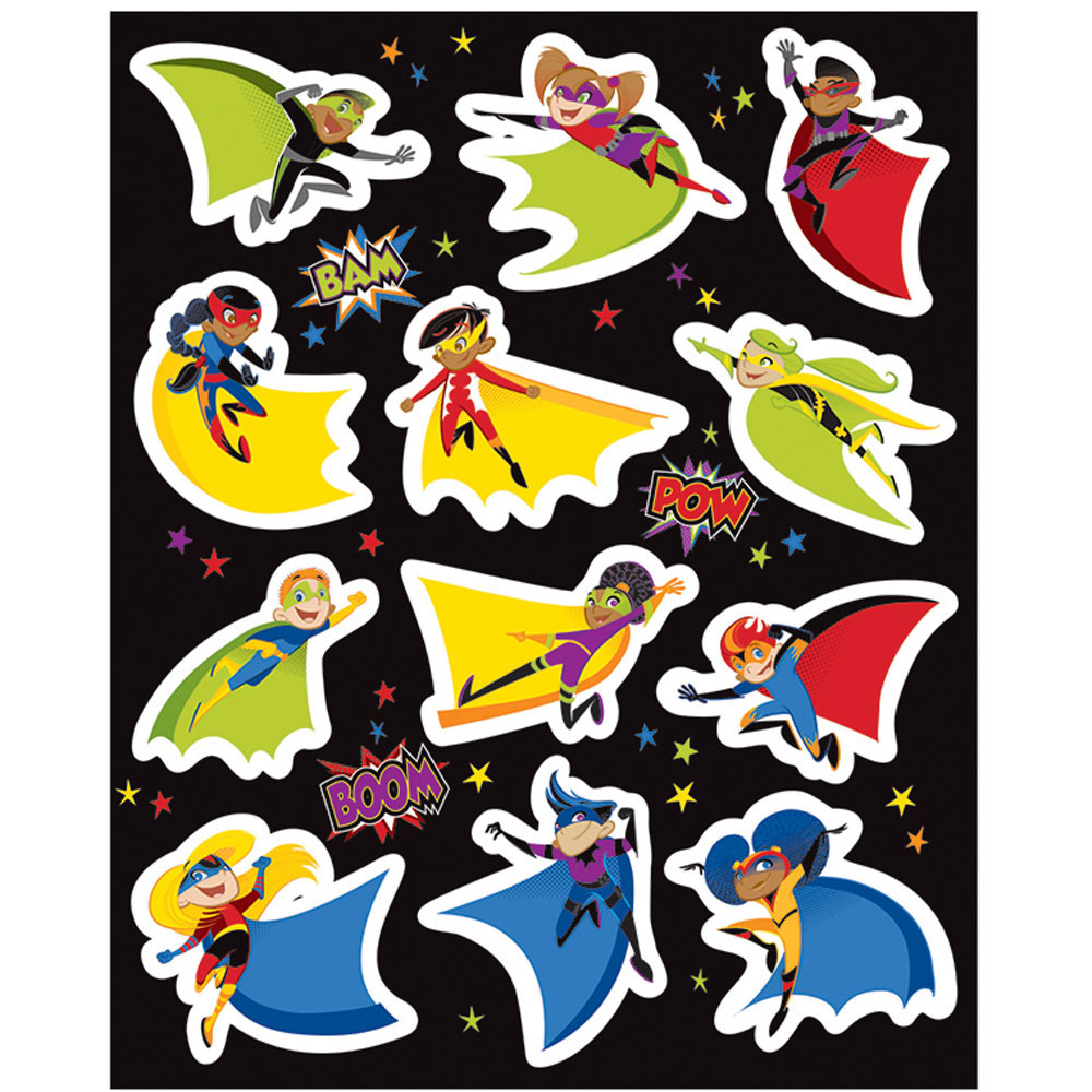 CD-168199 - Super Power Shape Stickers in Stickers
