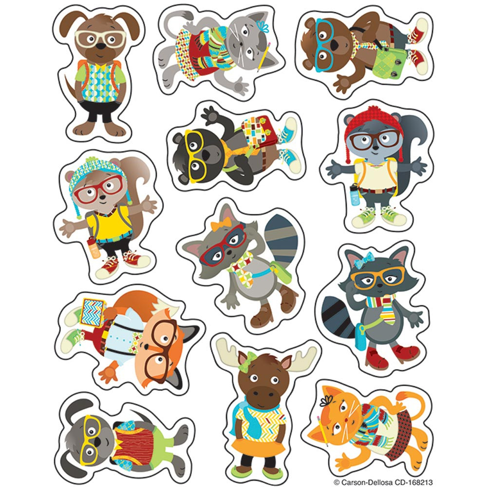 CD-168213 - Hipster Shape Stickers in Stickers