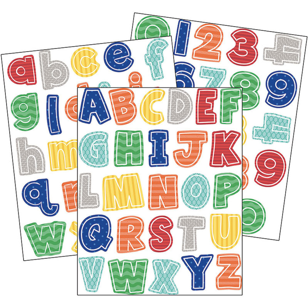 CD-168233 - Ss Discover Letters Numbers Gr Pk-5 Value Stickers in Stickers