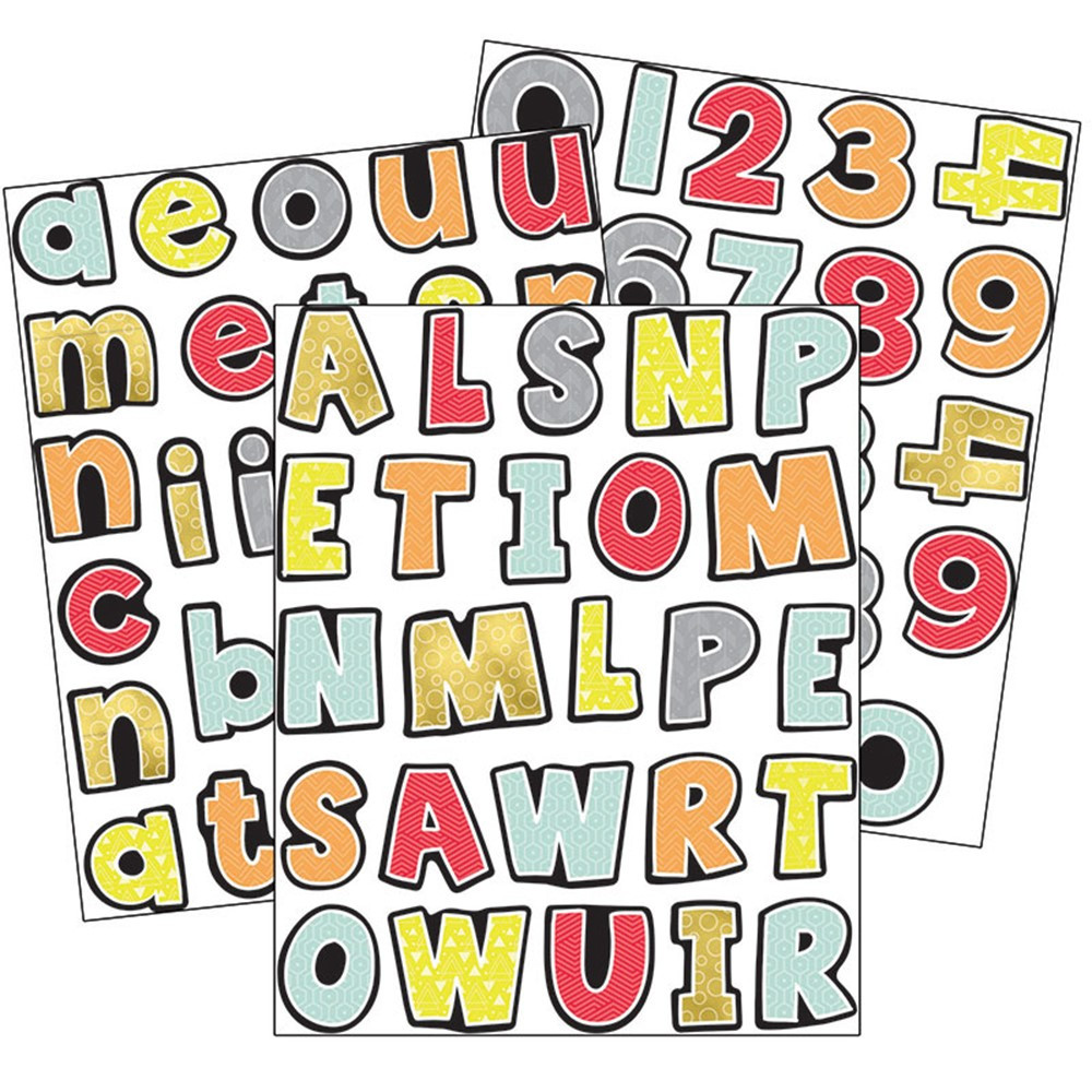 CD-168245 - Aim High Letters Numbers Gr Pk-5 Value Stickers in Stickers