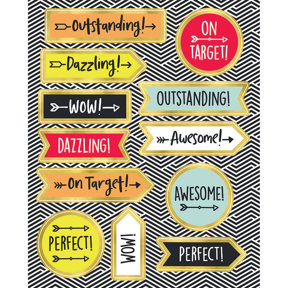 CD-168248 - Aim High Motivator Stickers Gr Pk-5 Shape in Stickers