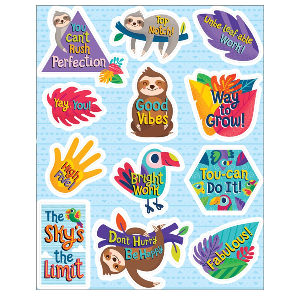 One World Motivators Motivational Stickers, 72 Pieces - CD-168296 | Carson Dellosa Education | Stickers