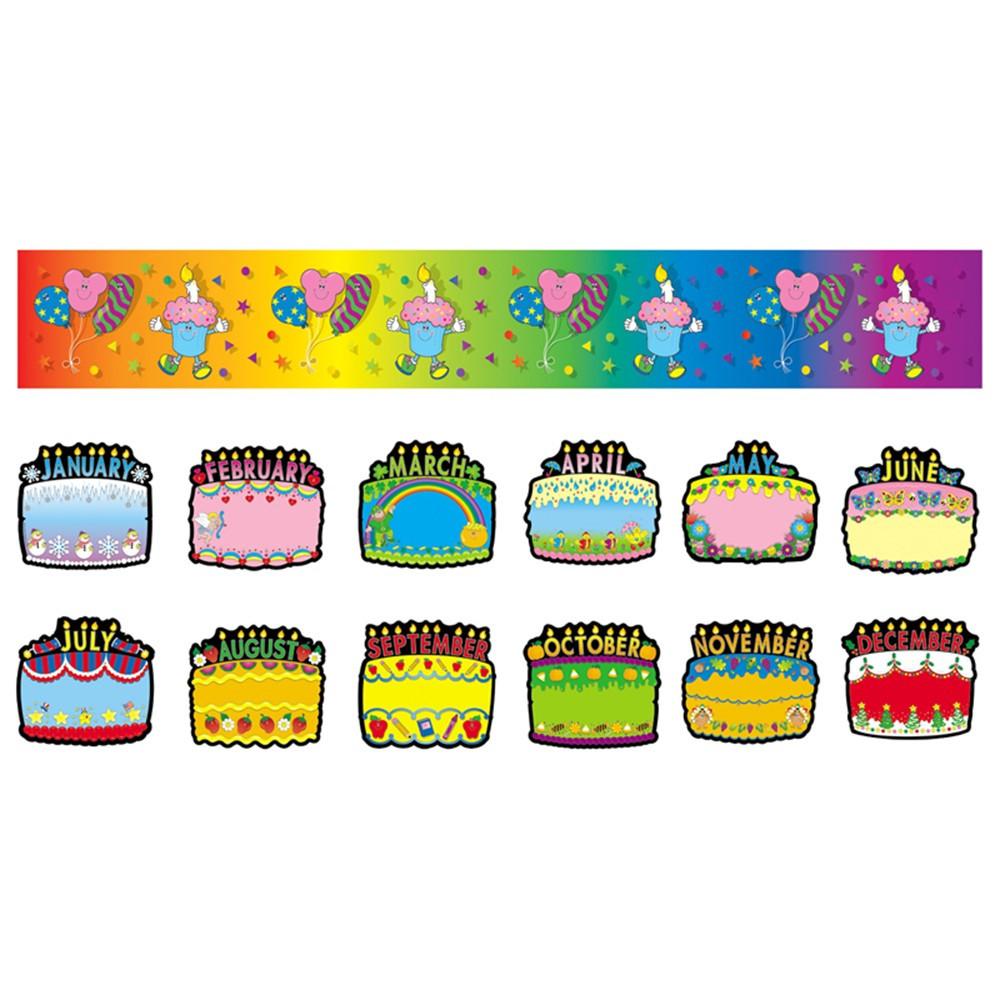 CD-1726 - Bulletin Board Set Birthday Cakes in Miscellaneous