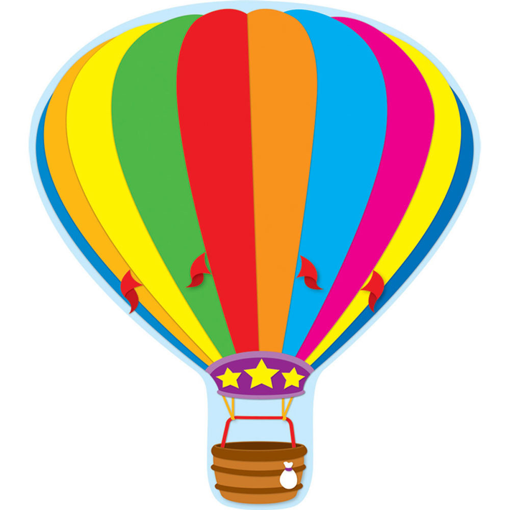 CD-188018 - Hot Air Balloon Two Sided Decorations in Two Sided Decorations
