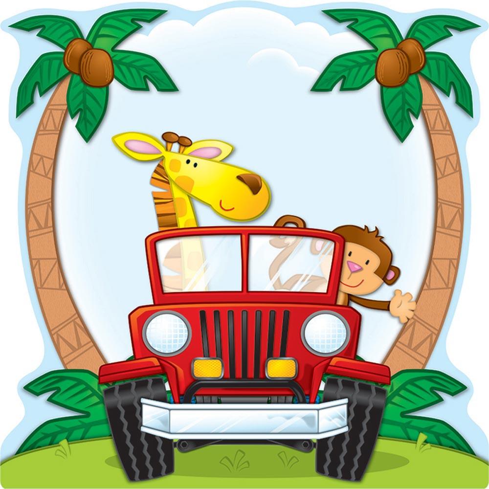 Classroom Display Design ~ Jungle safari two sided decorations cd carson