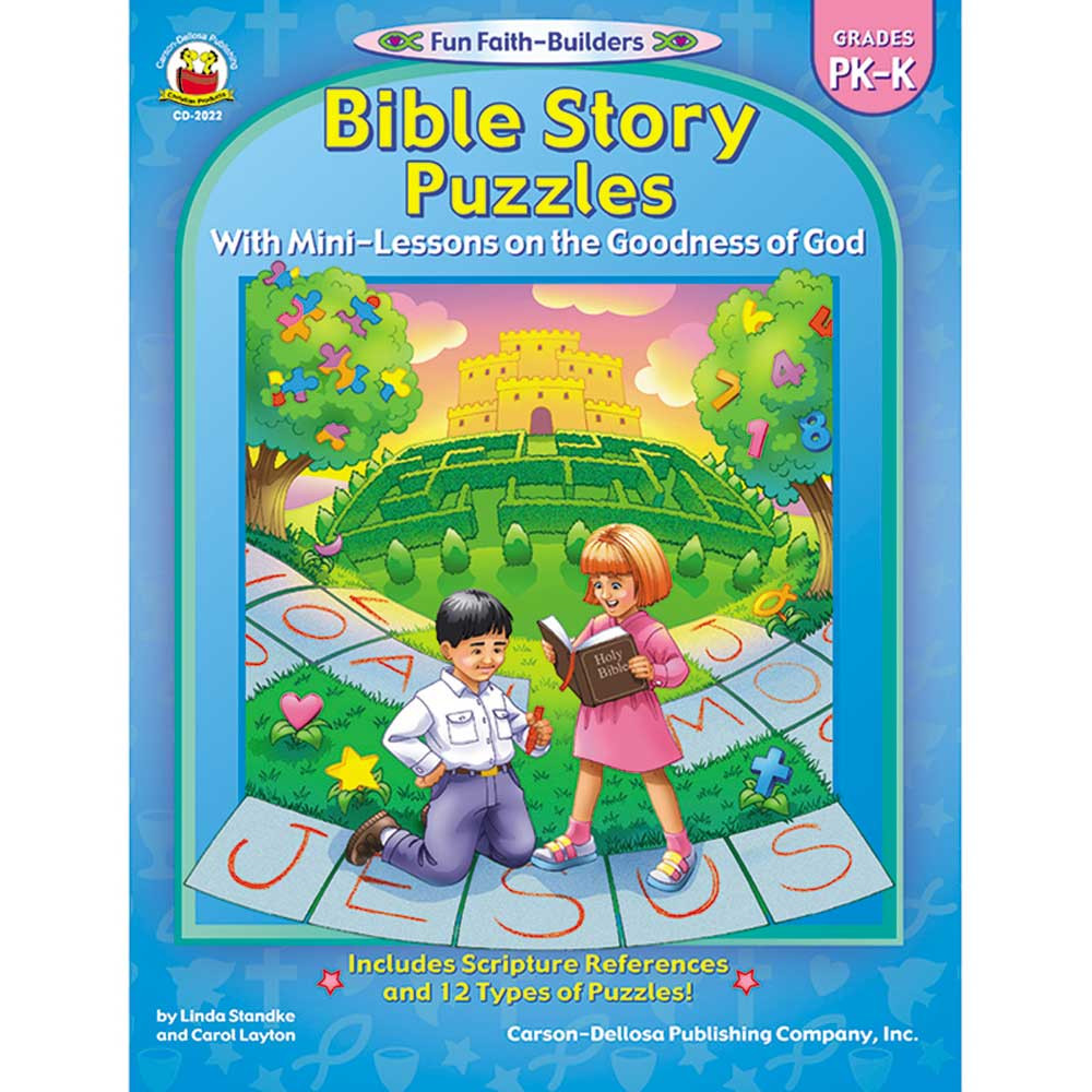 CD-2022 - Bible Story Puzzles Gr Pk-K in Inspirational