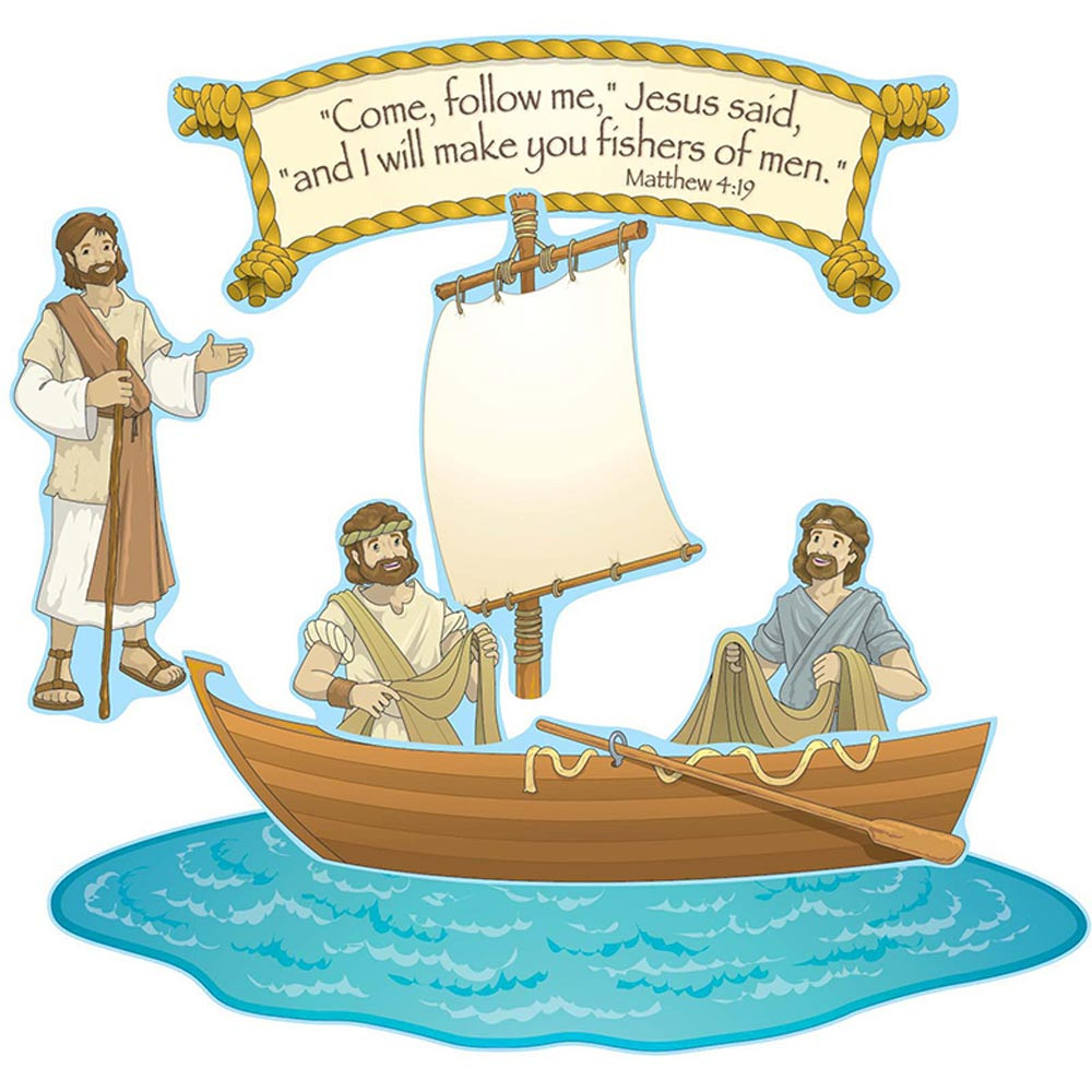 CD-210026 - Fishers Of Men Bulletin Board Set in Inspirational