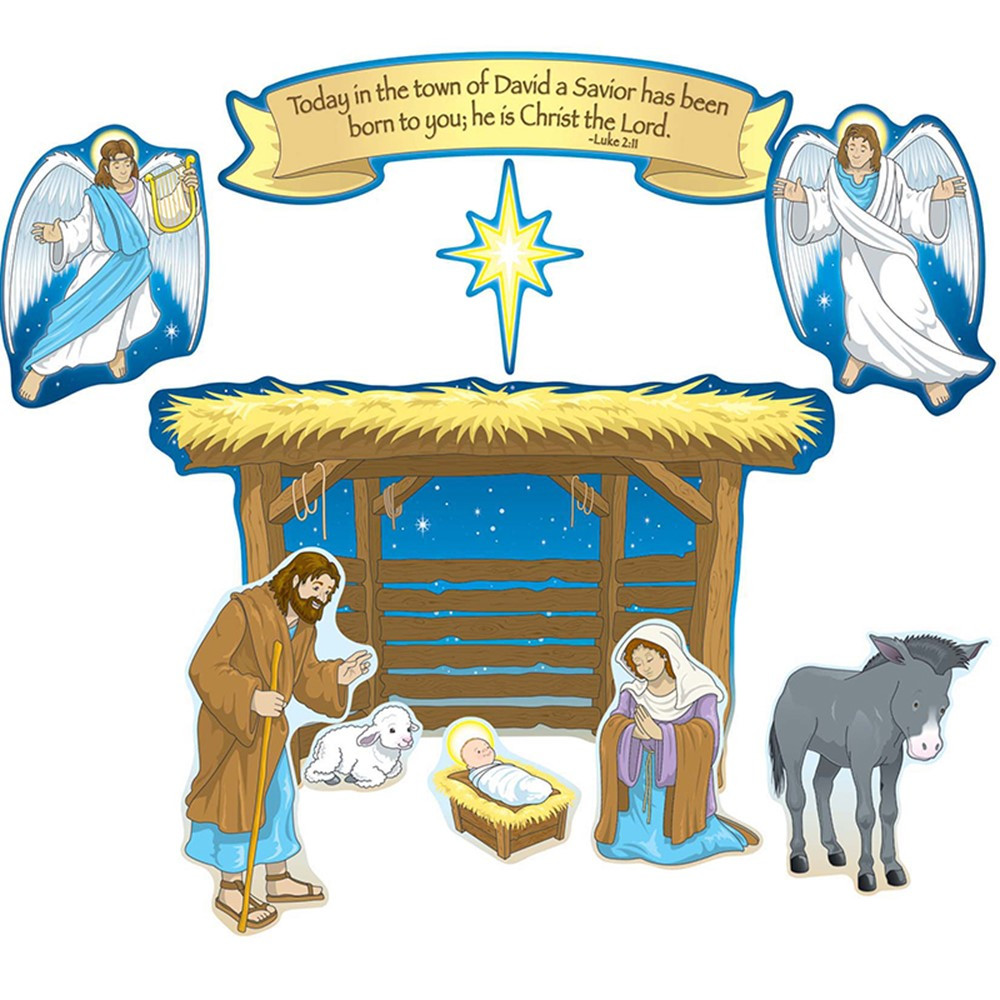 CD-210027 - Nativity Bulletin Board Set in Inspirational