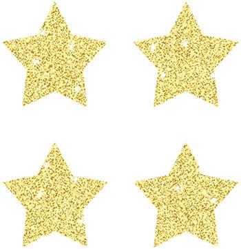CD-2145 - Dazzle Chart Seals Stars 440/Pk Gold Acid & Lignin Free in Stickers