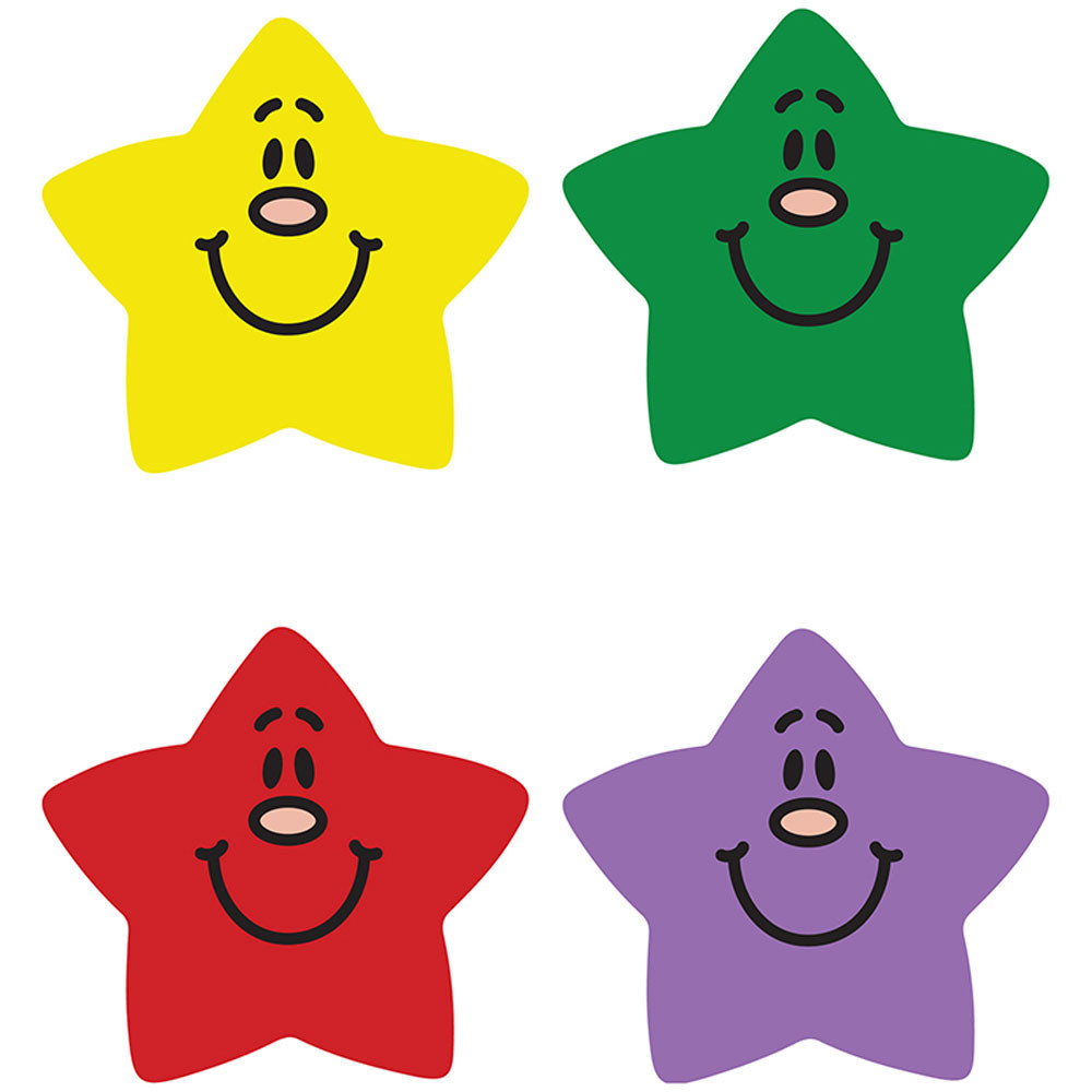CD-2175 - Chart Seals Smiling Stars 810/Pk Acid & Lignin Free in Stickers