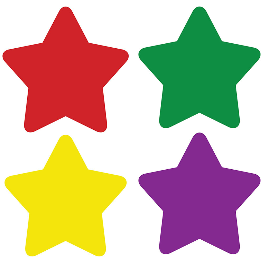 CD-2177 - Chart Seals Stars Multicolor 810/Pk Acid & Lignin Free in Stickers