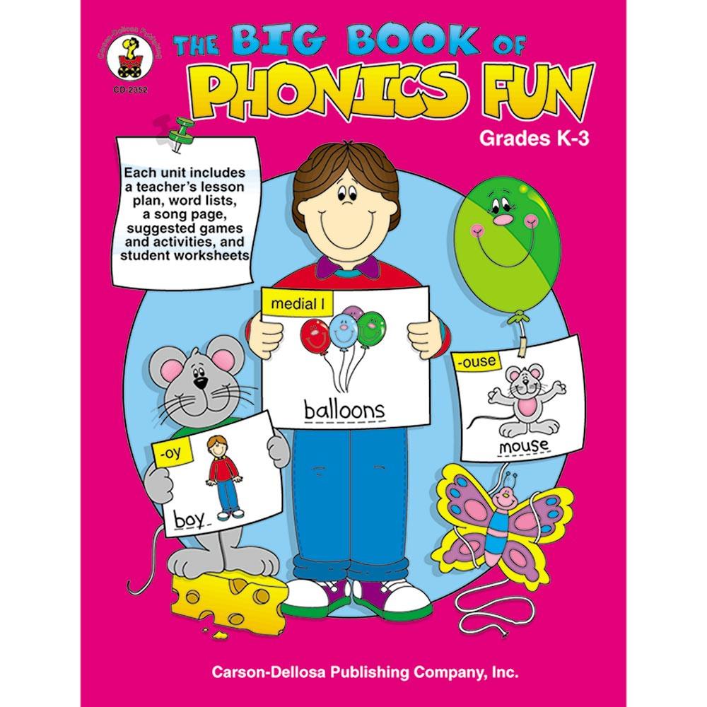 CD-2352 - Big Book Of Phonics Fun Gr Pk-1 in Phonics