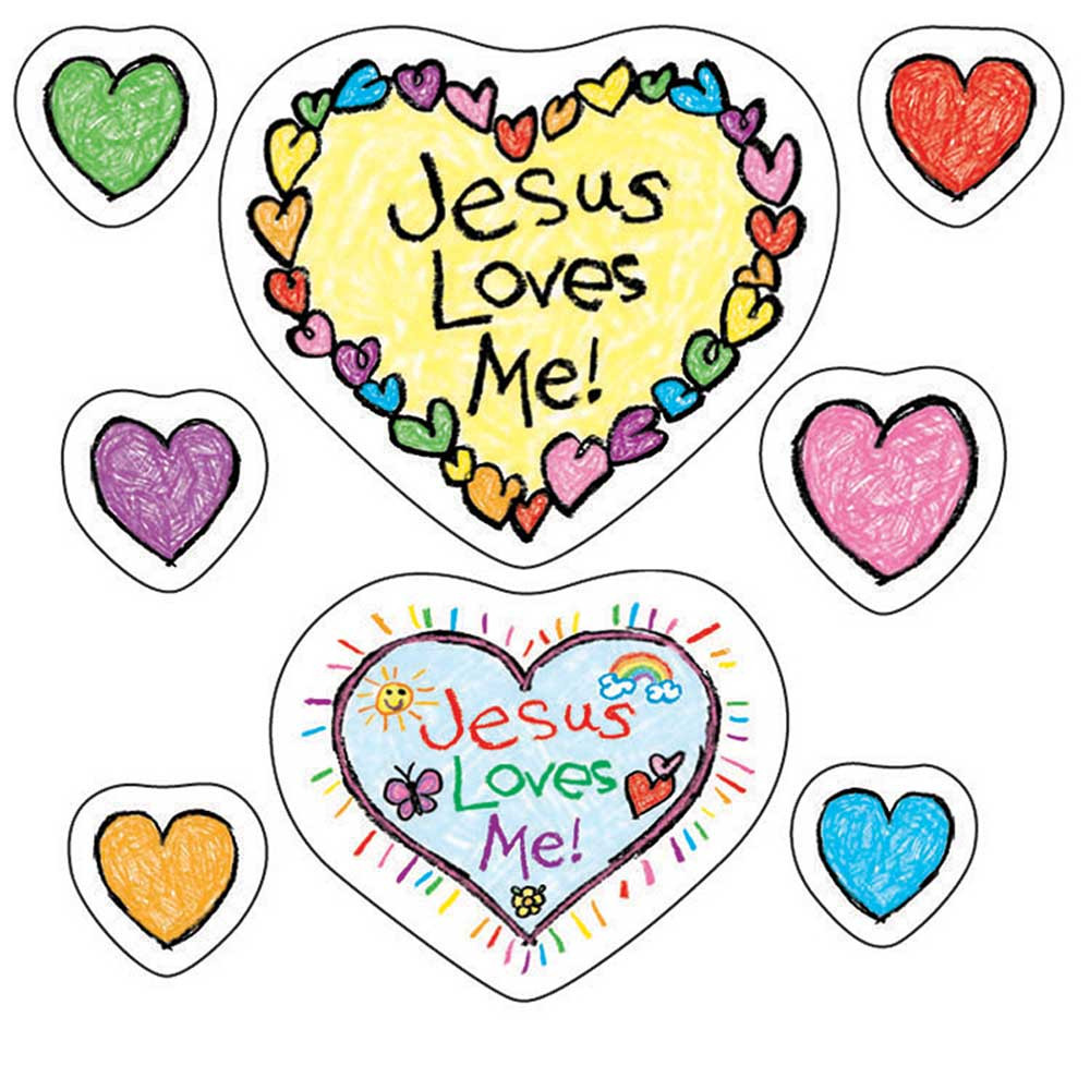 CD-268018 - Jesus Loves Me Stickers in Inspirational
