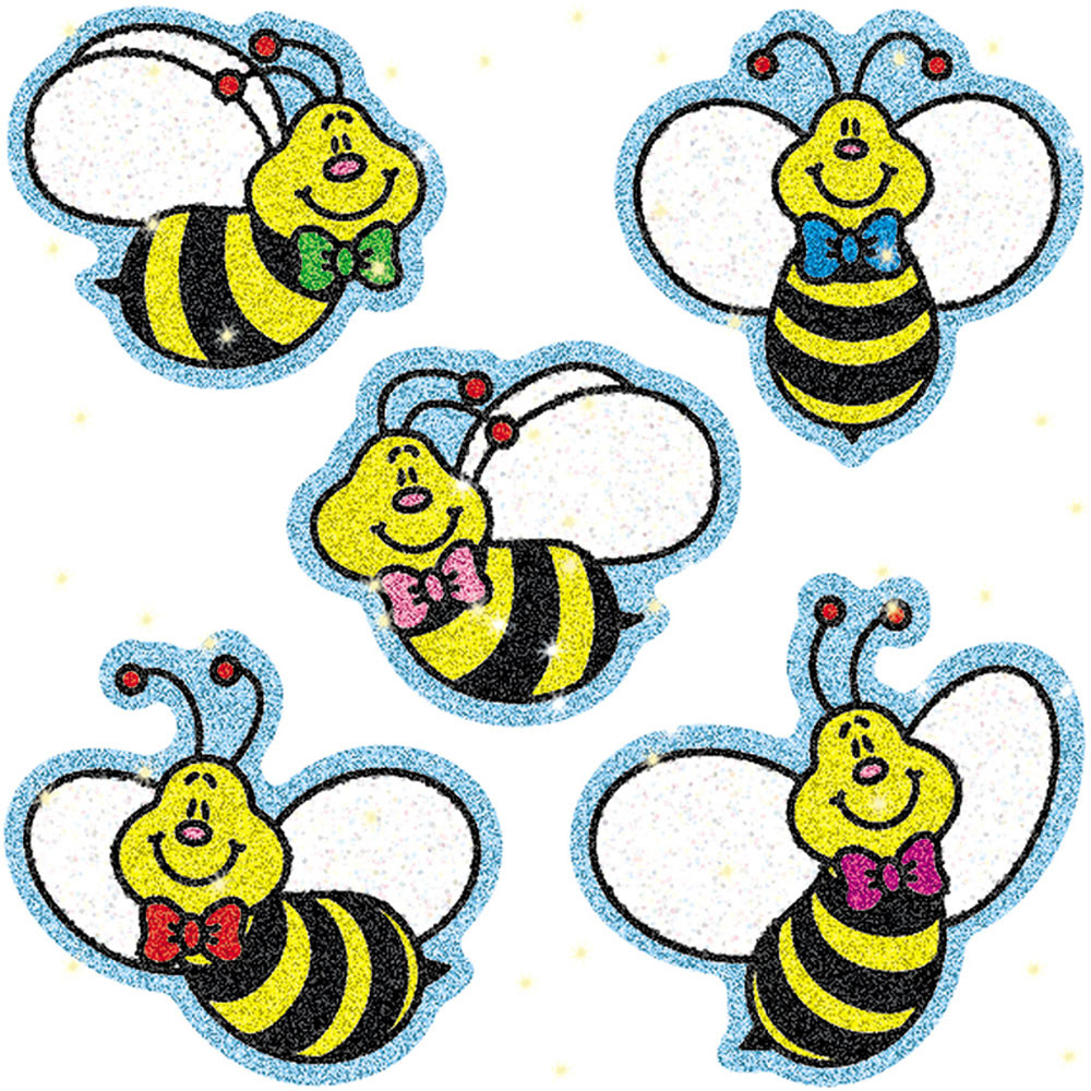 CD-2902 - Dazzle Stickers Bees 75-Pk Acid & Lignin Free in Stickers