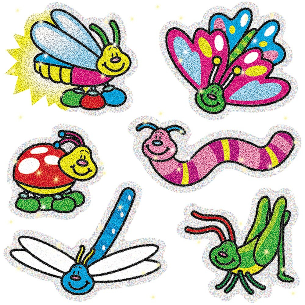 CD-2904 - Dazzle Stickers Bugs 90-Pk Acid & Lignin Free in Stickers
