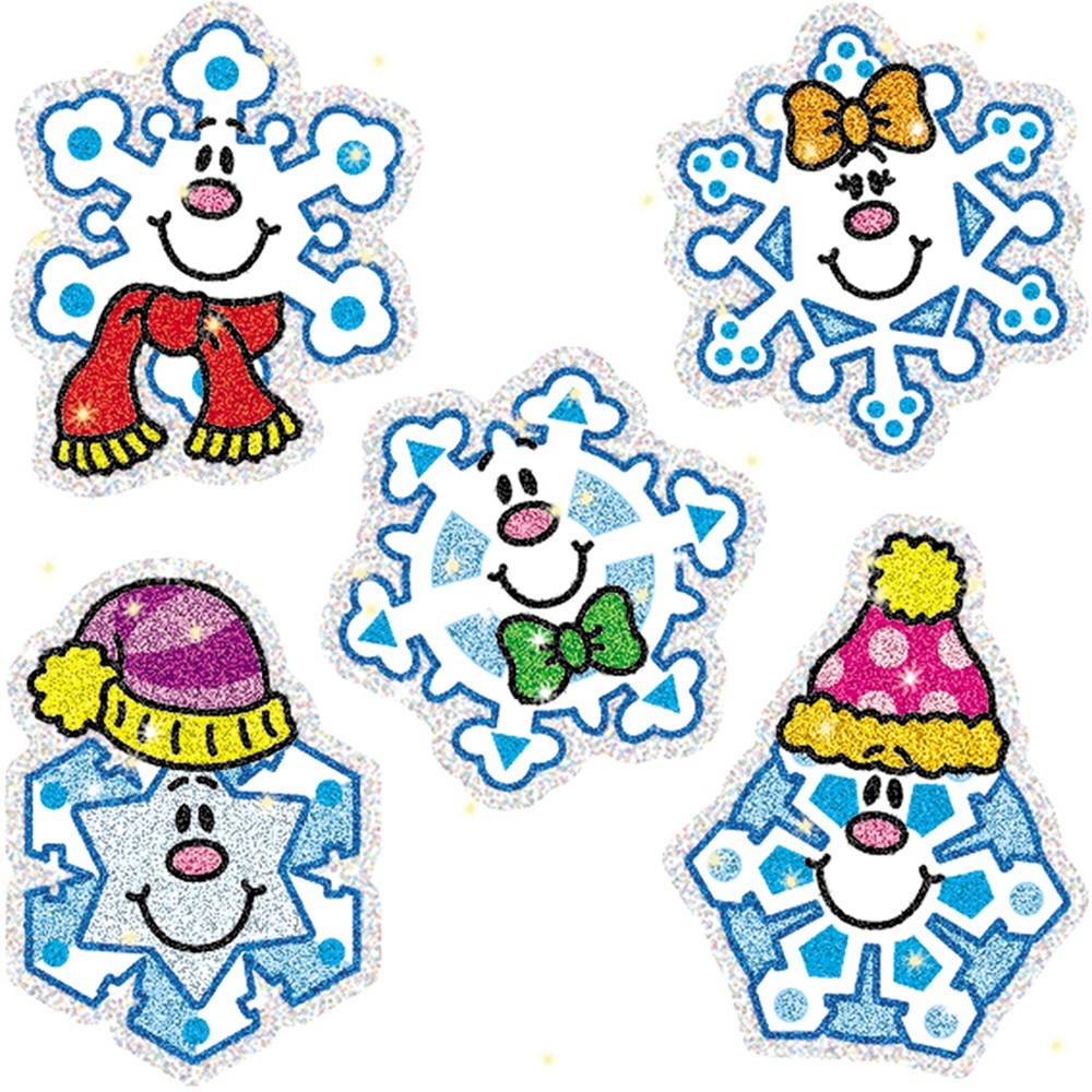 CD-2925 - Dazzle Stickers Snowflakes 75-Pk Acid & Lignin Free in Holiday/seasonal