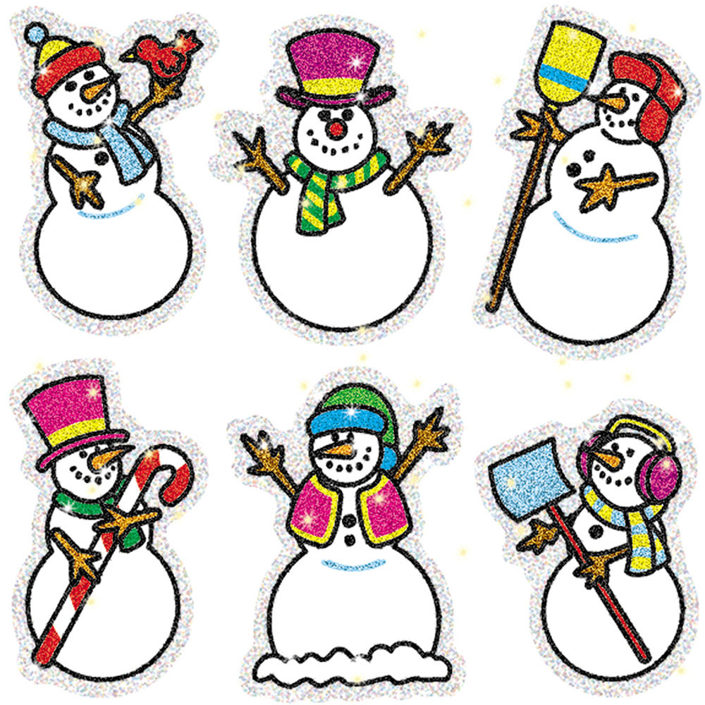 CD-2926 - Dazzle Stickers Snowmen 90-Pk Acid & Lignin Free in Holiday/seasonal