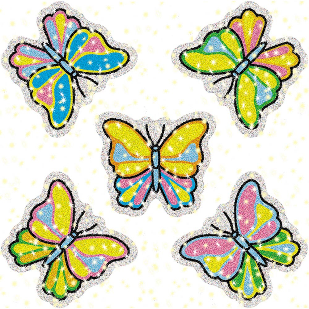 CD-2933 - Dazzle Stickers Butterflies 75-Pk in Stickers