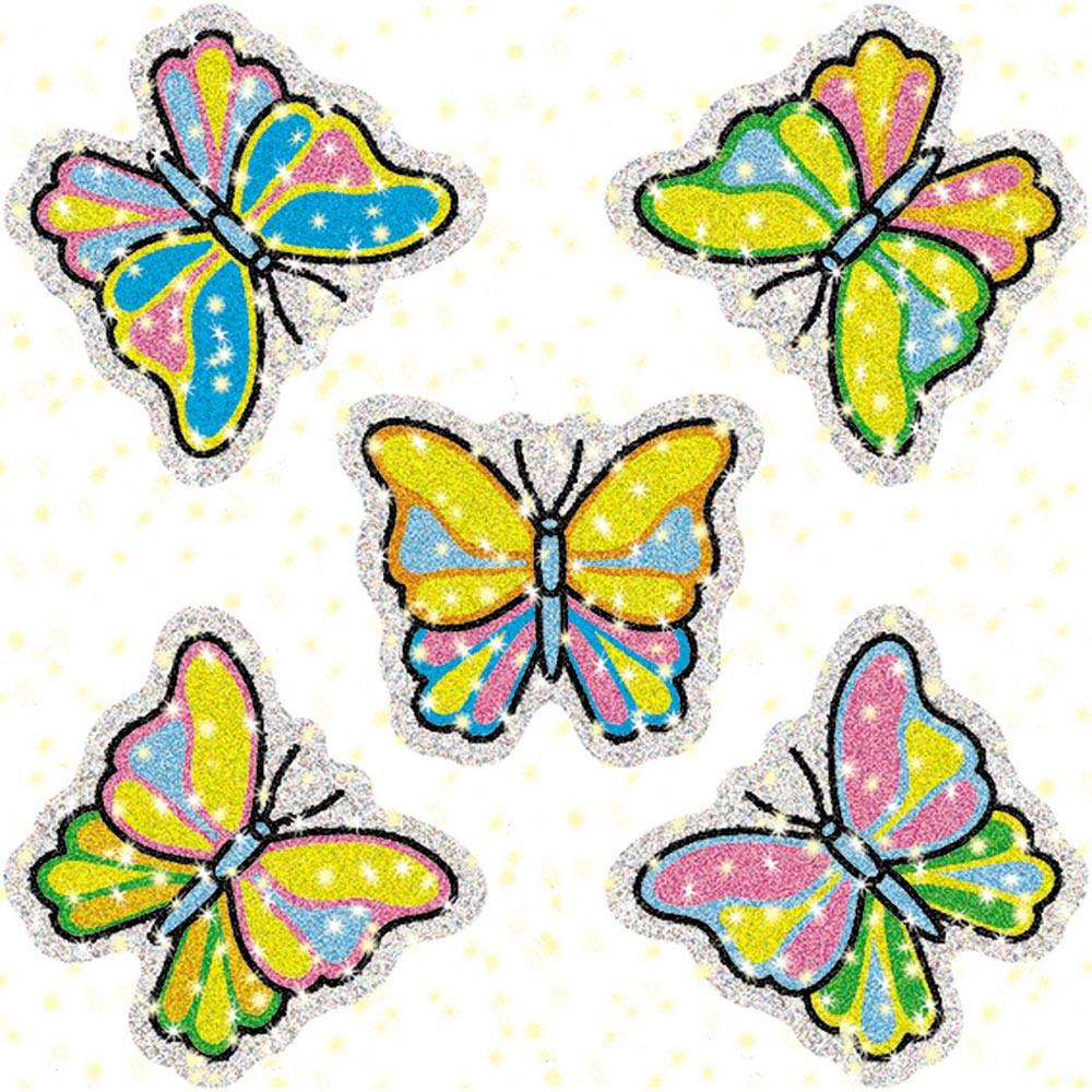CD-2933 - Dazzle Stickers Butterflies 75-Pk in Stickers