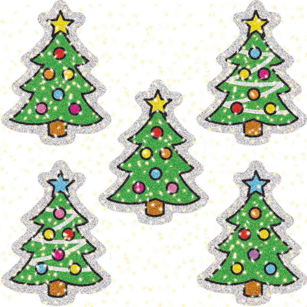 CD-2938 - Dazzle Stickers Christmas Trees 75 Acid & Lignin Free in Holiday/seasonal
