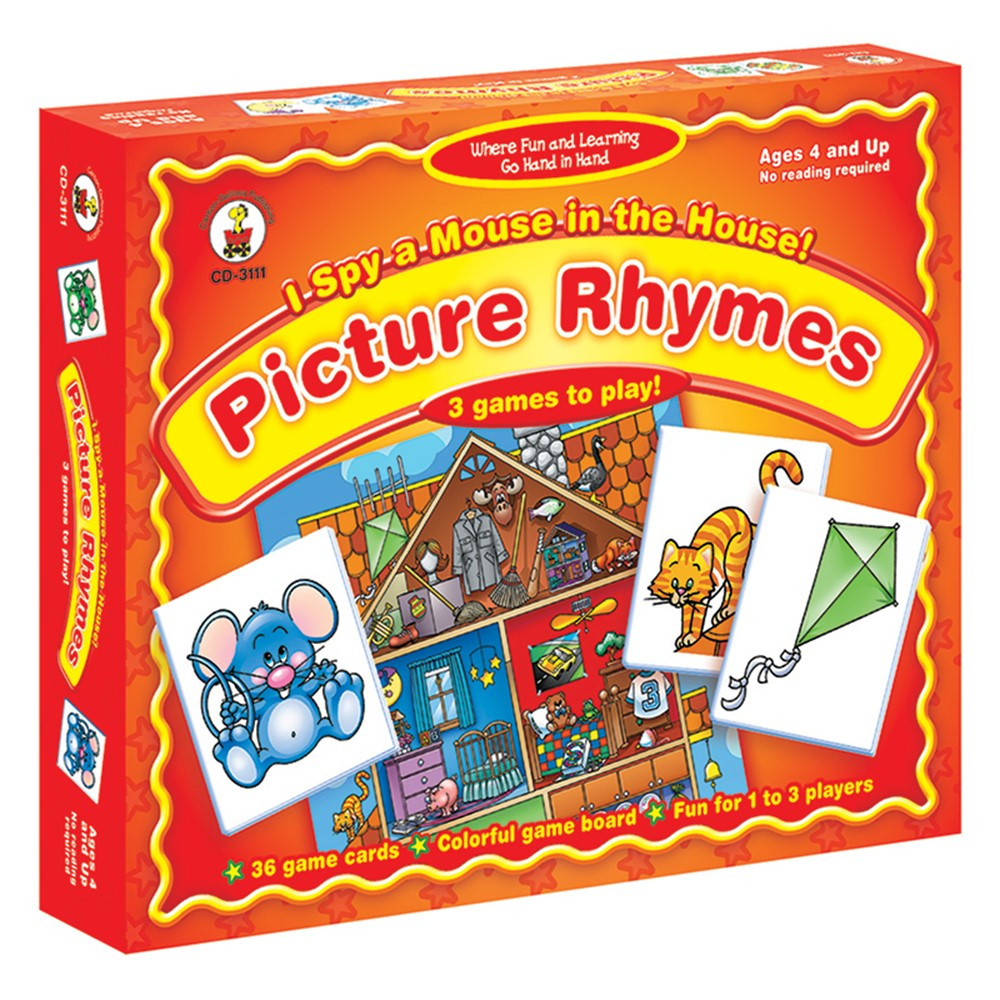 CD-3111 - Game I Spy A Mouse In The House Ages 4 & Up Picture Rhymes in Games