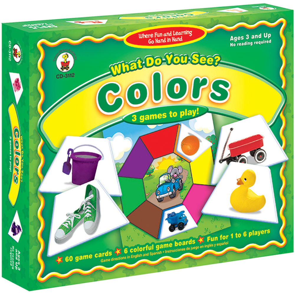 CD-3112 - Game What Do You See 3 & Up Colors in Games