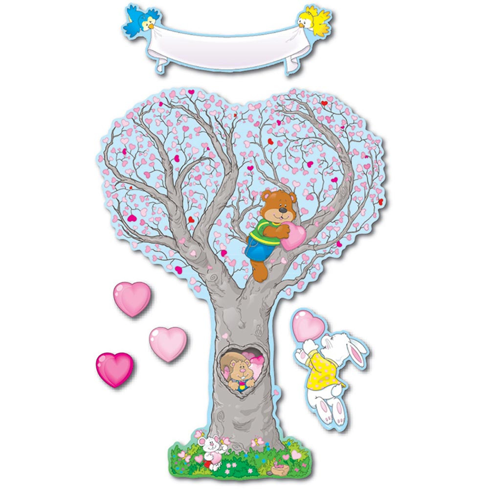 CD-3445 - Bulletin Board Set Caring Heart Tree in Holiday/seasonal