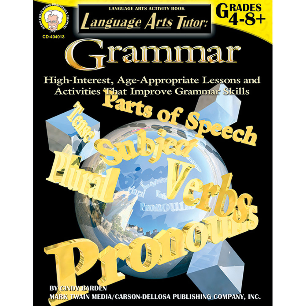 CD-404013 - Language Arts Tutor Grammar Gr 4-8 in Grammar Skills