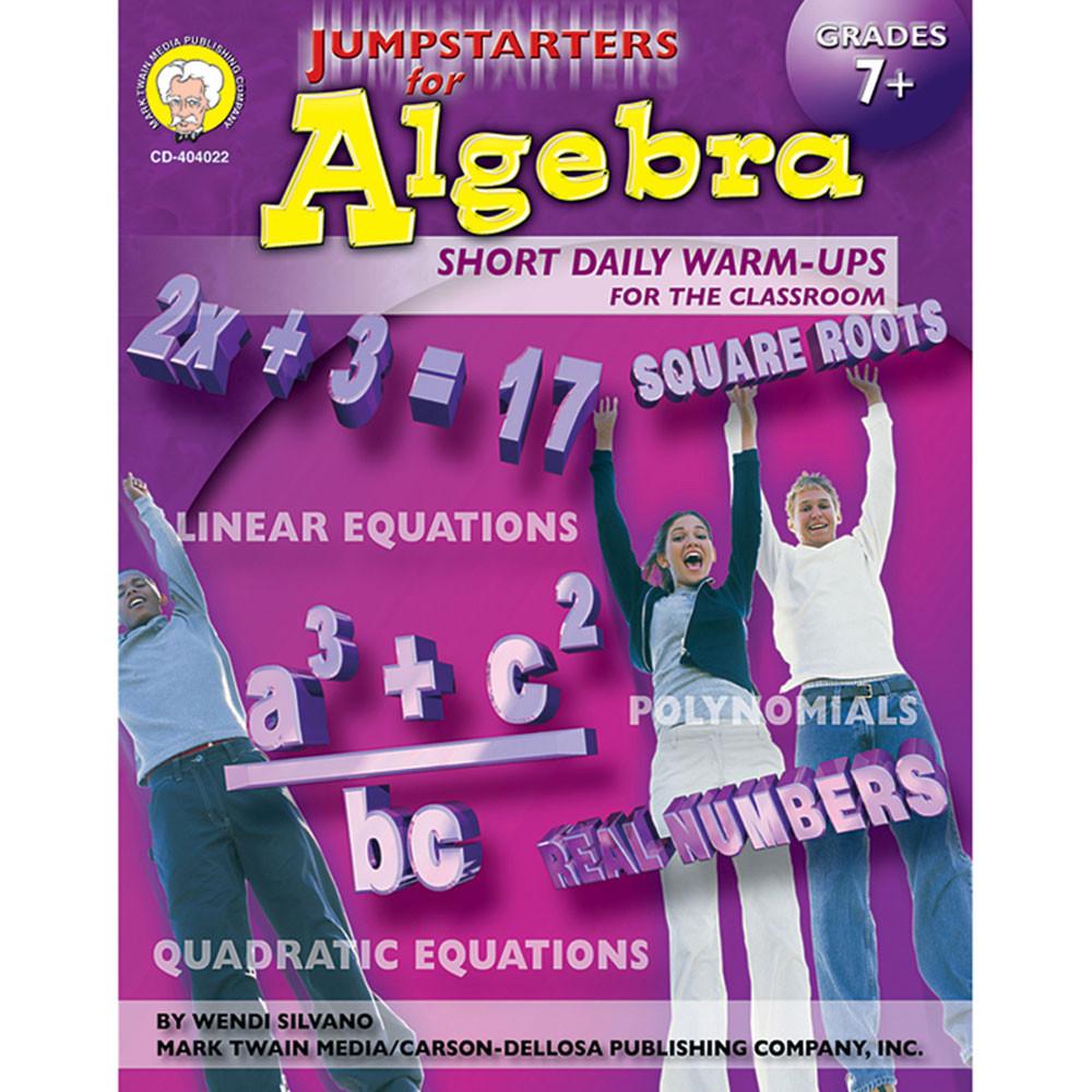 Jumpstarters for Algebra, Grades 7 - 12