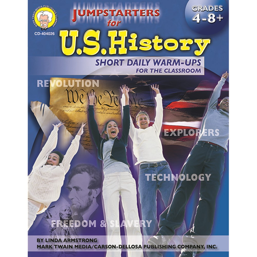 CD-404026 - Jumpstarters For Us History Gr 4-8 in History