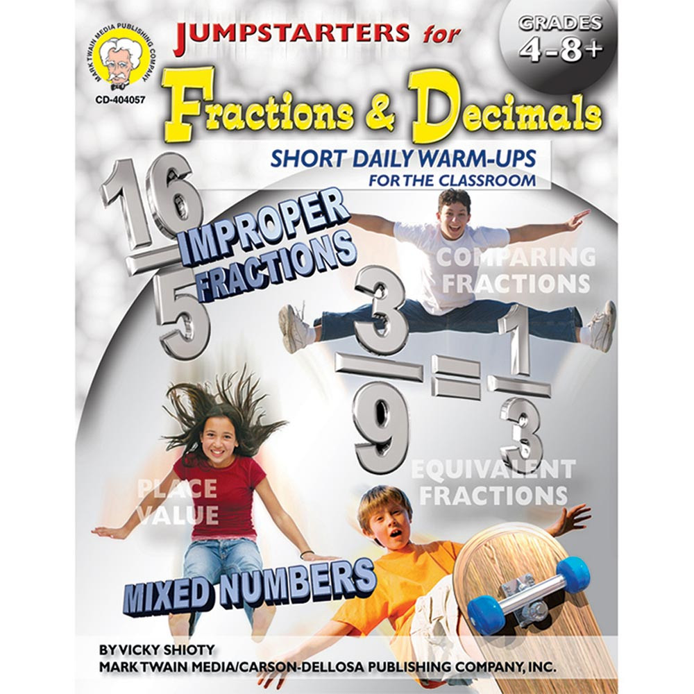 CD-404057 - Jumpstarters For Fractions & Decimals Books-Math 4-8& Up in Fractions & Decimals