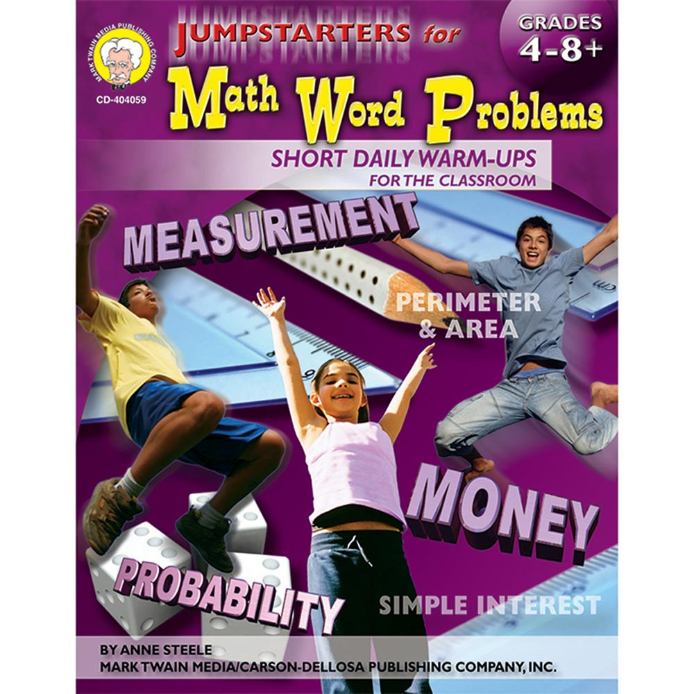 CD-404059 - Jumpstarters For Math Word Problems Books-Math 4-8& Up in Activity Books