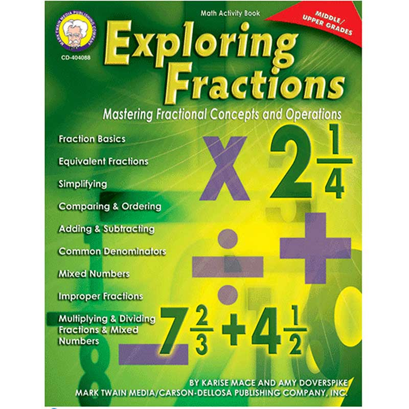 CD-404088 - Exploring Fractions Gr Middle in Fractions & Decimals